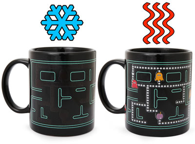 Heat powered arcade mugs