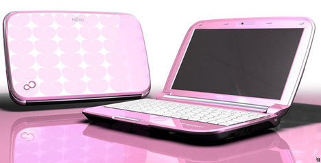 Fujitsu MH380 netbook dressed up in pink