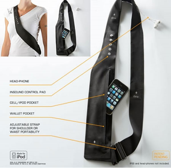 iPod And iPhone Sound Control Shoulder Strap